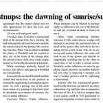 Prenups & postnups: the dawning of sunrise/sunset clauses