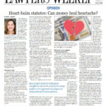 Attorney Vicki Shemin's Article on Heart-balm statutes: Can money heal heartache? Featured in Massachusetts Lawyers Weekly
