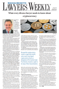 Cryptocurrency and Divorce – Jon Fields published in Mass Lawyers Weekly